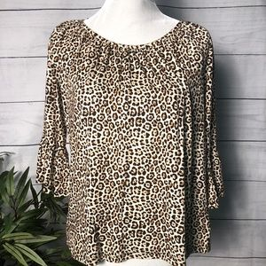 MICHAEL by Michael Kors Leopard Top NWT - S